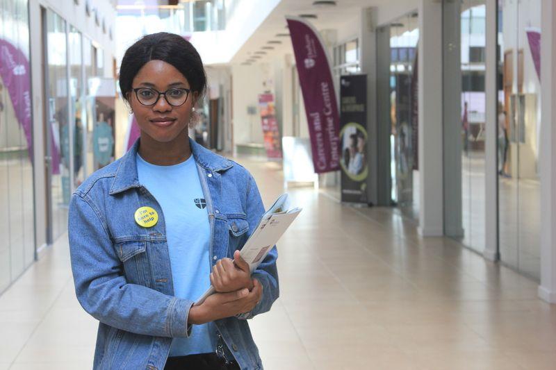 Student ambassador at open day