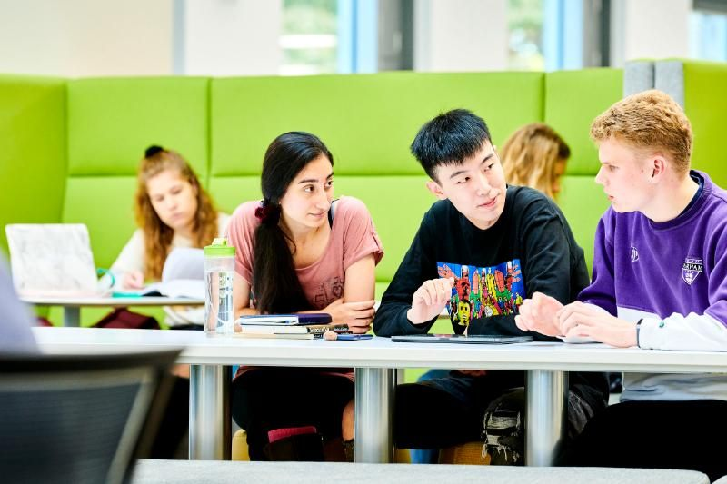 Students studying in Teaching and Learning Centre