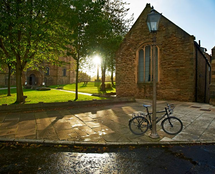 Bike in front of the Music Department on Palace Green