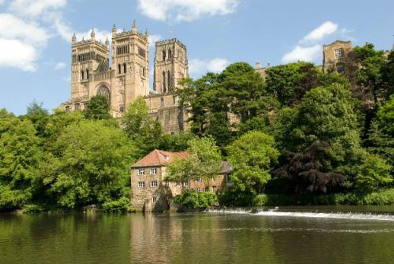 View of Durham Cathedral across the River Wear