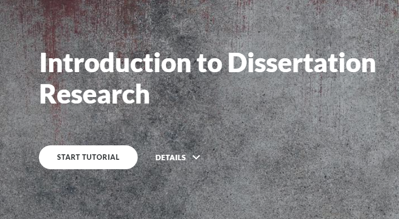 Introduction to dissertation research