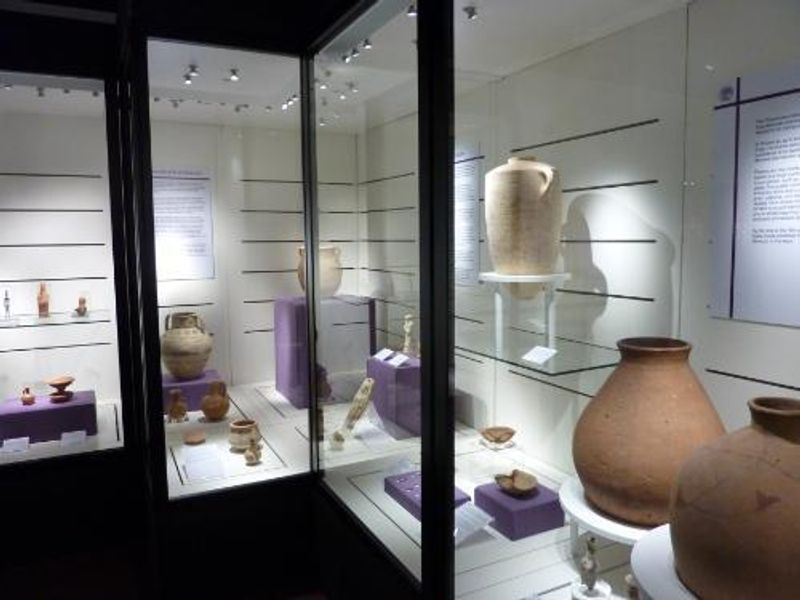 Objects on loan from the National Museum of Beirut in the exhibition Daily Life in Ancient Lebanon