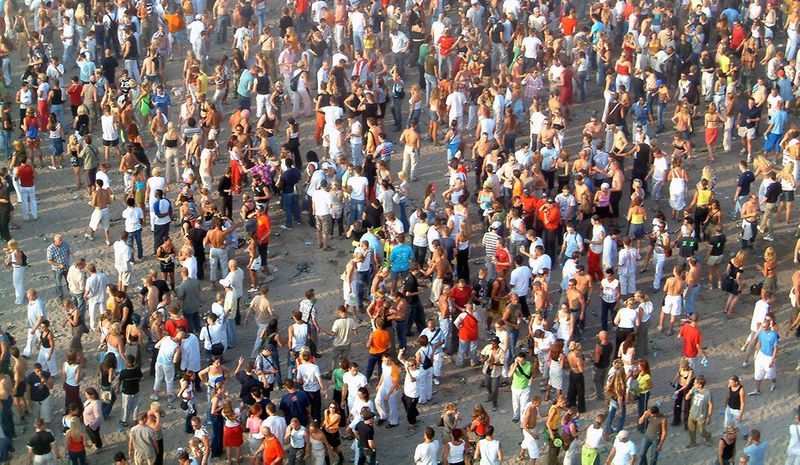 A large crowd of people in Turkey