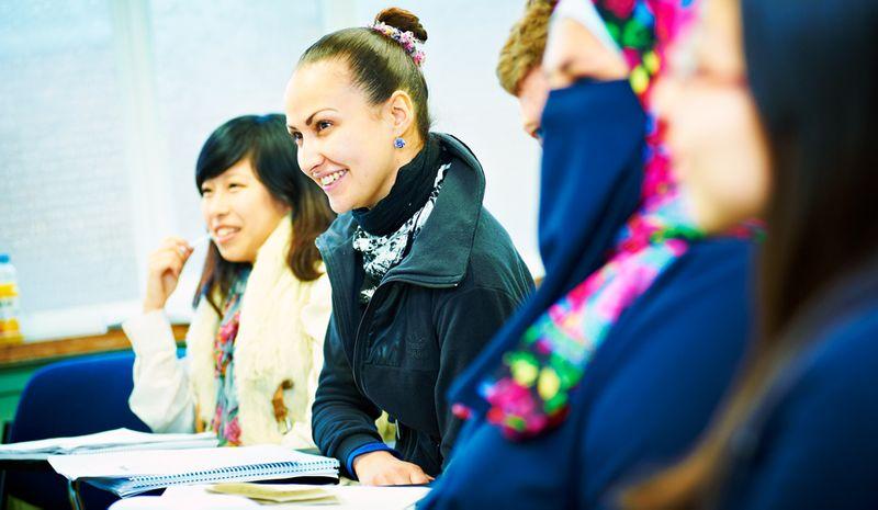 Students during a seminar