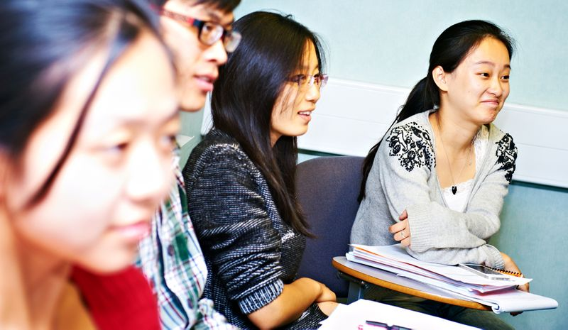 Students in a seminar