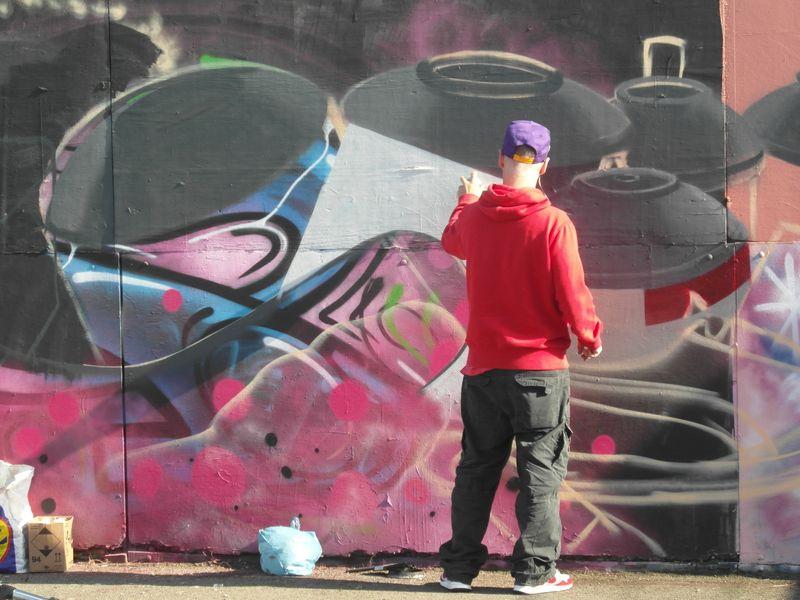 Phoenix project, graffiti art, N. Shields