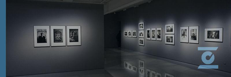 Exhibition of black and white photographs