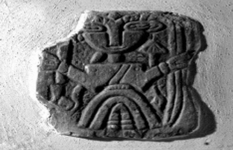 A slab of anglo saxon sculpture
