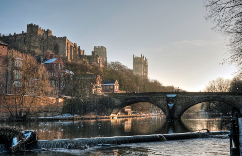 View of Durham City from across the river