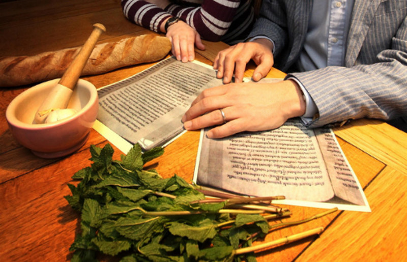 A medieval food book and cooking preperation