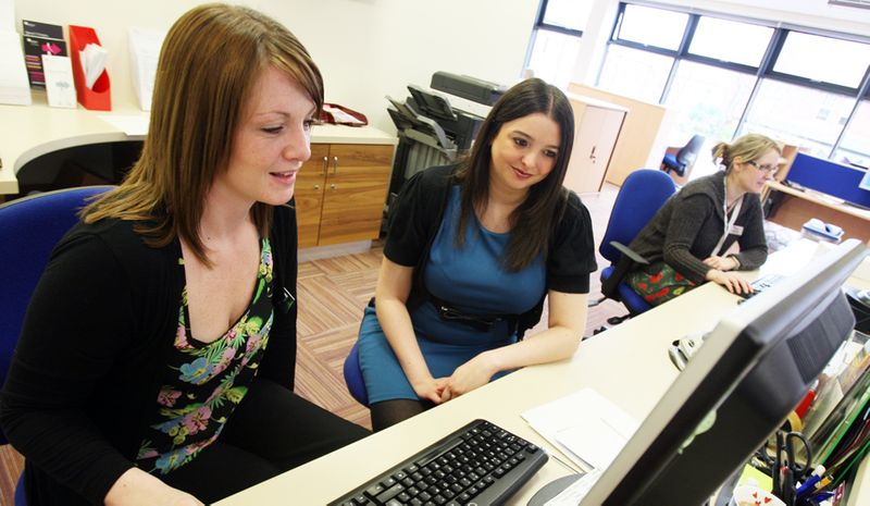 Careers and Enterprise Centre staff at their workstations