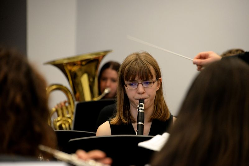 Concert Band perform in the new Collingwood Performance Space