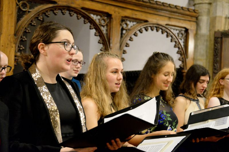 Choir singing at St Oswald's Church