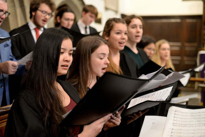 Choir performing in a Chapel