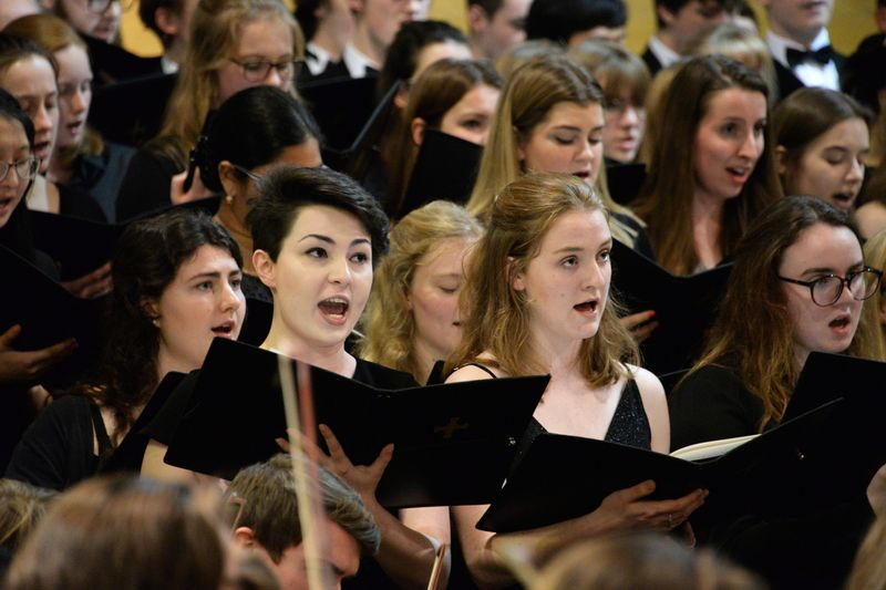 The Choral Society singing in their Christmas concert