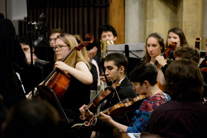 Hill Orchestra performing at the Epiphany Concert: A Celestial Voyage 1969-2019