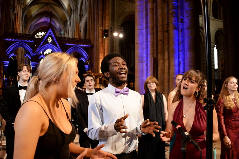 Gospel Choir performing at the Cathedral concert