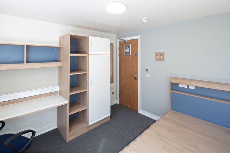 John Snow College Accommodation Empty Bedroom