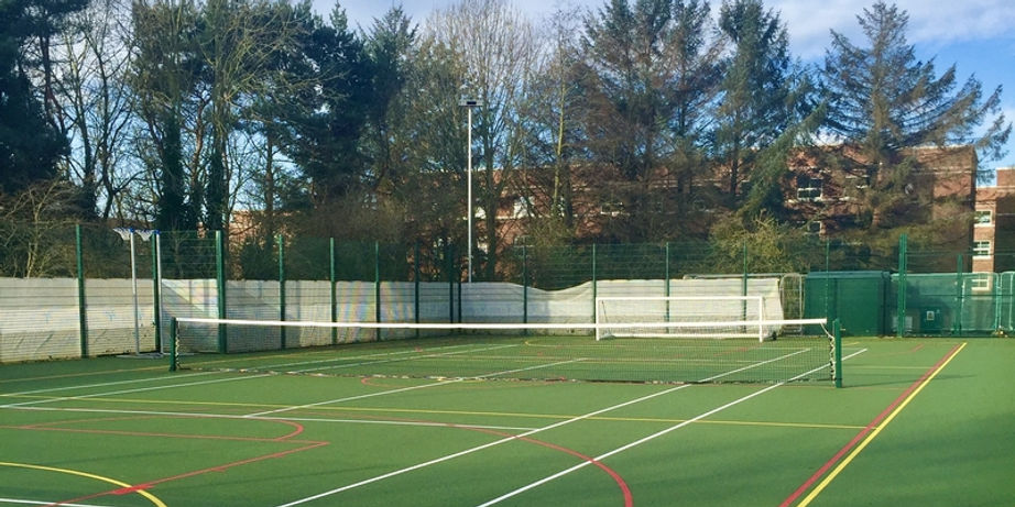 Multi-Use Games Area with tennis net