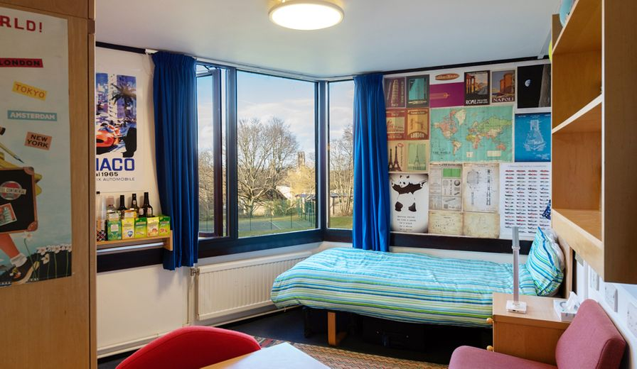 A typical undergraduate room at Trevelyan College