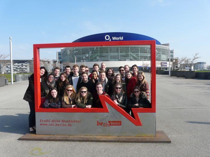 Students on Berlin field trip 2014