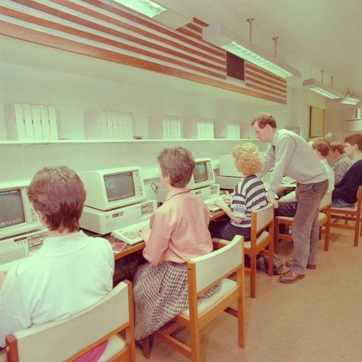 Computer Lab in the 1980s with Danny Donnoghue
