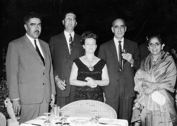 WB Fisher at dinner with Prime Minister of Jordan in 1965