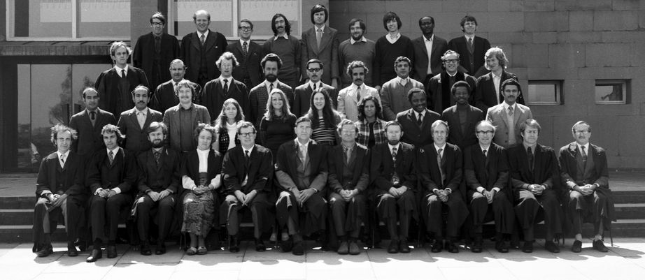 Geography Department Postgraduate Group photo from 1973