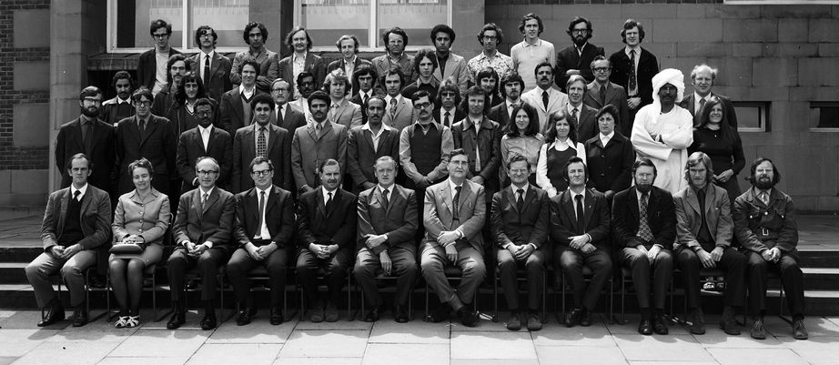 Geography Department Postgraduate Group photo from 1974