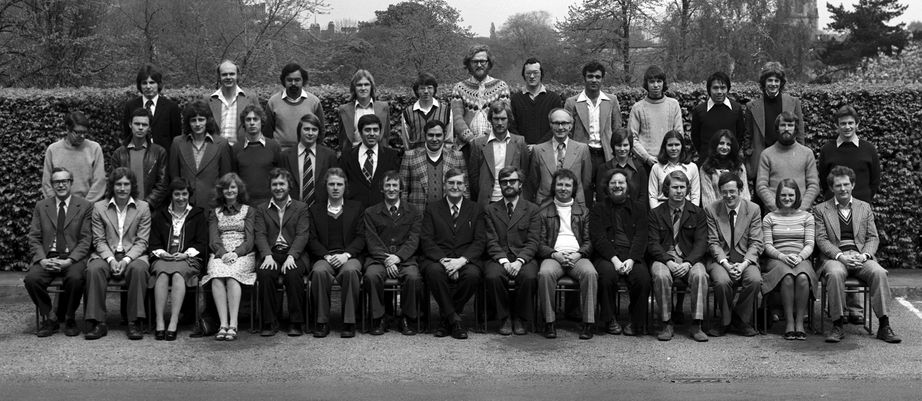 Geography Department Postgraduate Group photo from 1977