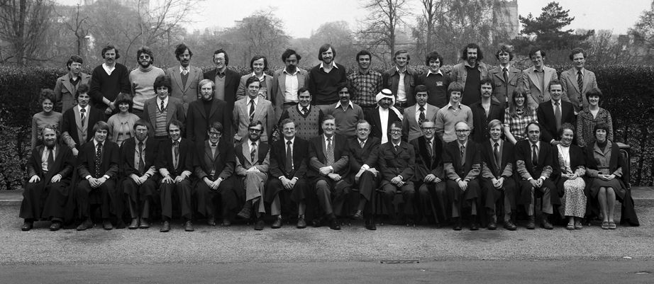 Geography Department Postgraduate Group Photo from 1978
