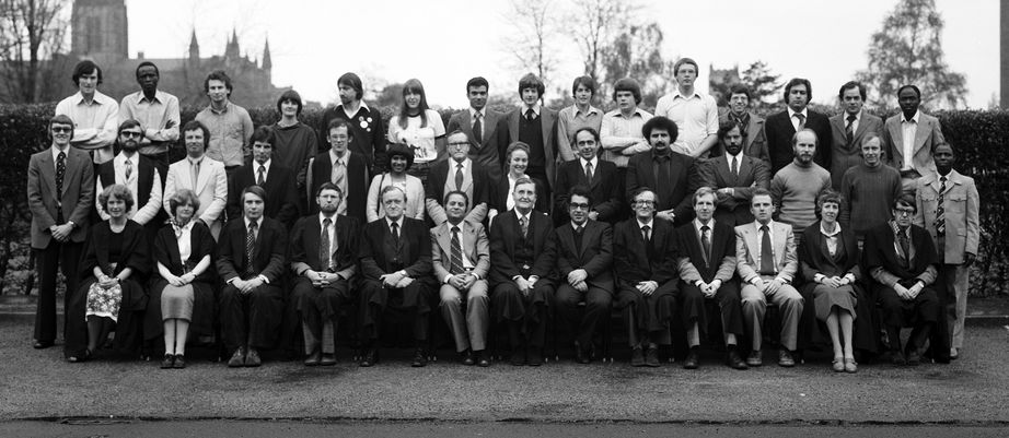 Geography Department Postgraduate Group Photo from 1979