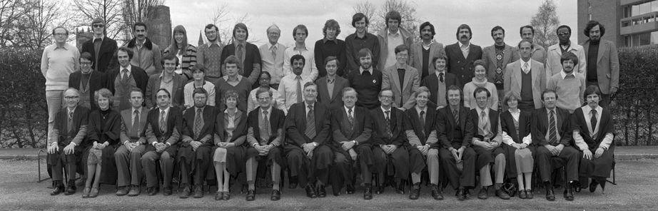 Geography Department Postgraduate Group Photo from 1980
