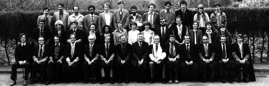 Geography Department Postgraduate Group Photo from 1981