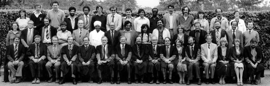Geography Department Postgraduate Group Photo from 1982