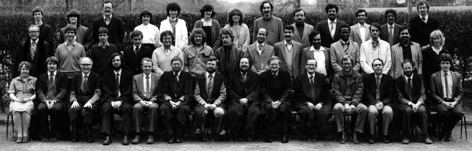 Geography Department Postgraduate Group Photo from 1983