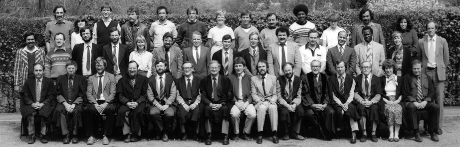 Geography Department Postgraduate Group Photo from 1984