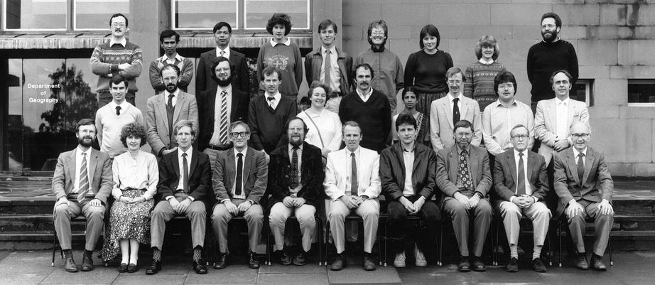 Geography Department Postgraduate Group Photo from 1985
