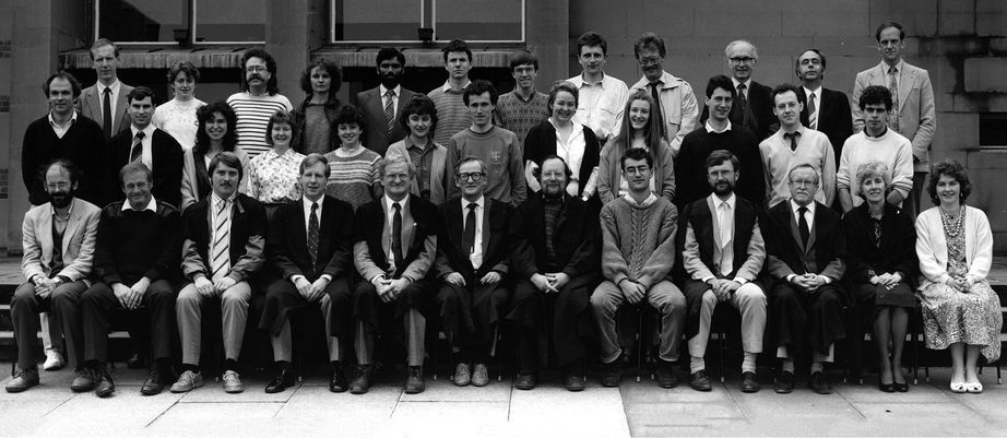 Geography Department Postgraduate Group Photo from 1988