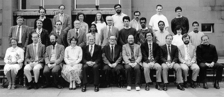Geography Department Postgraduate Group Photo from 1989