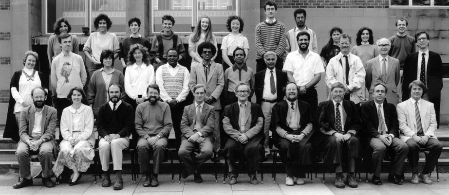Geography Department Postgraduate Group Photo from 1990