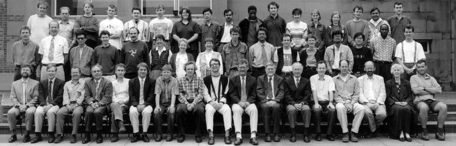 Geography Department Postgraduate Group Photo from 1996