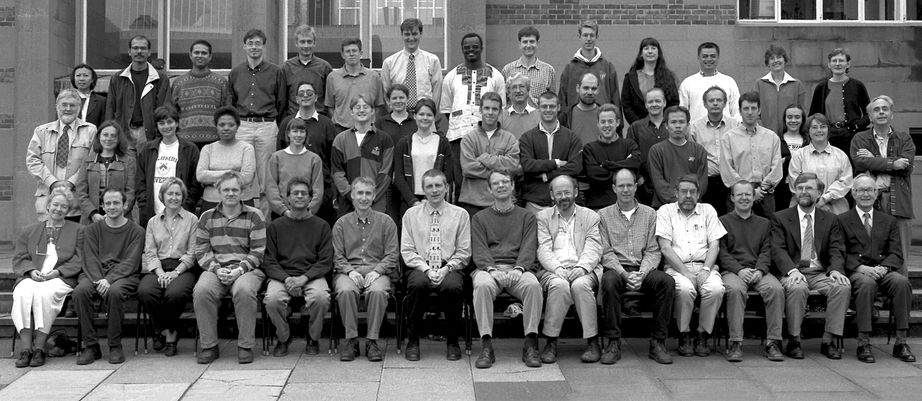 Geography Department Postgraduate Group Photo from 1999