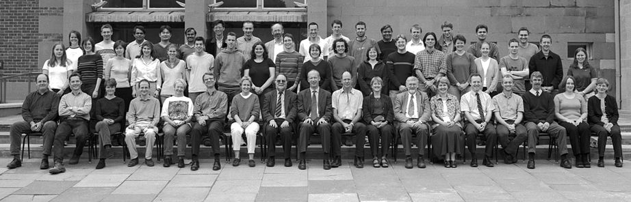 Geography Department Postgraduate Group Photo from 2001