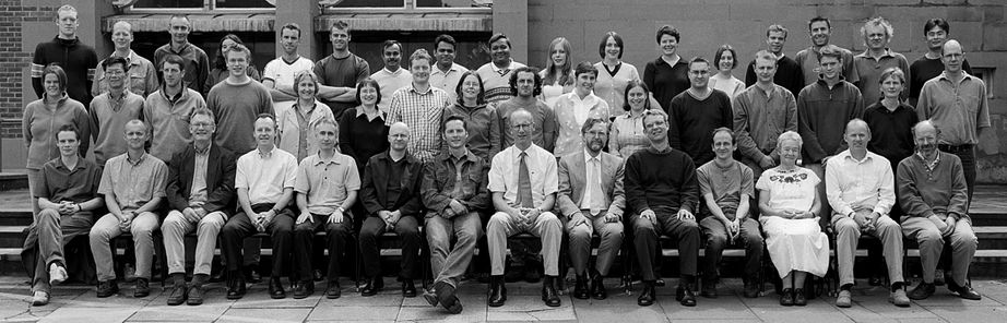 Geography Department Postgraduate Group Photo from 2002