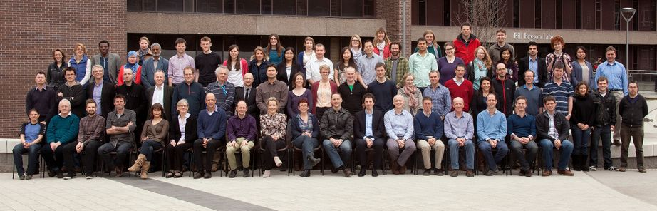 Geography Department Postgraduate Group Photo from 2013