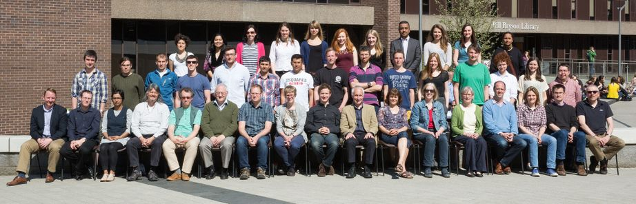 Geography Department Postgraduate Group Photo from 2015