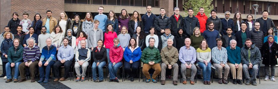 Geography Department Postgraduate Group Photo from 2017