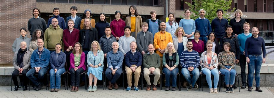 Geography Department Postgraduate Group Photo from 2019