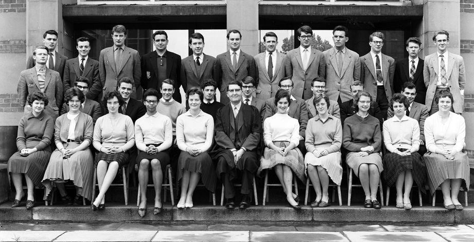 Geography Department Undergraduate Group photo from 1961